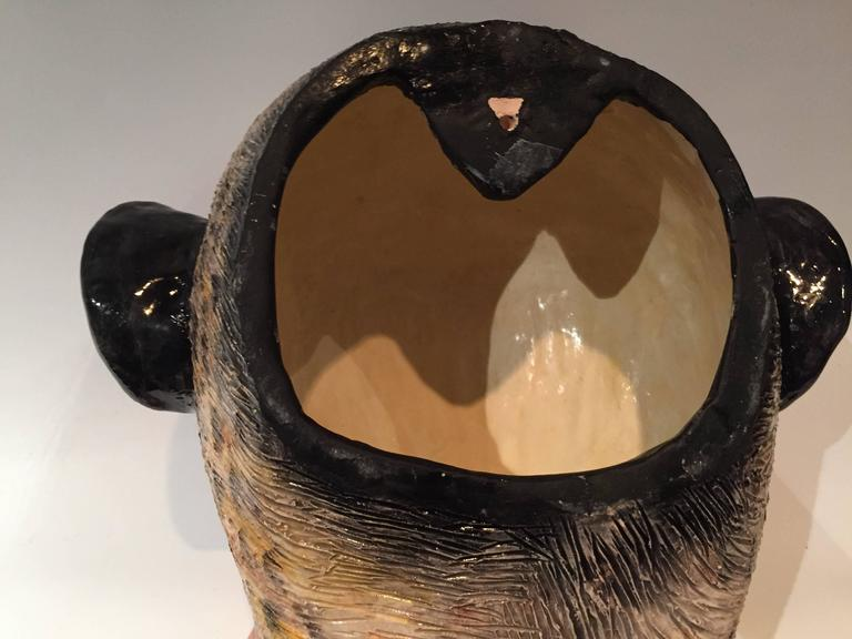 Monkey Mask Ceramic Sculpture by Ardmore from South Africa 5