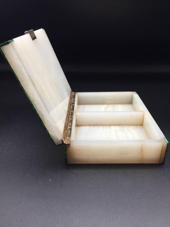 Malachite & Onyx Silver Hinged Box, English 1941 Made by Henry Griffith & Sons 9