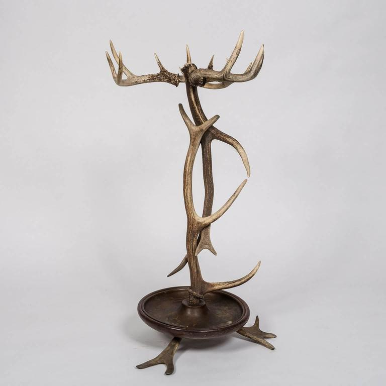 German Black Forest Style Antler Umbrella Stand from a 1920s Adirondack Great Camp For Sale