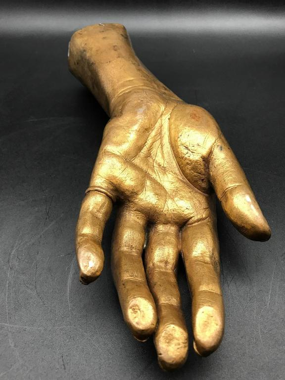 Belle Époque French 19th Century Life-Size Gilded Bronze Hand For Sale