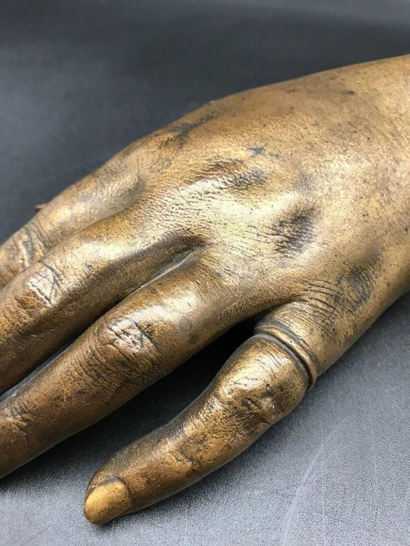 French 19th Century Life-Size Gilded Bronze Hand For Sale 2