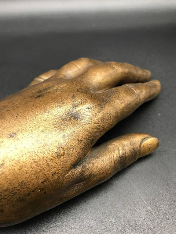 French 19th Century Life-Size Gilded Bronze Hand For Sale 3