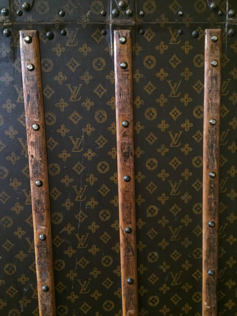 Early 20th Century Louis Vuitton Travel Wardrobe Trunk For Sale 1