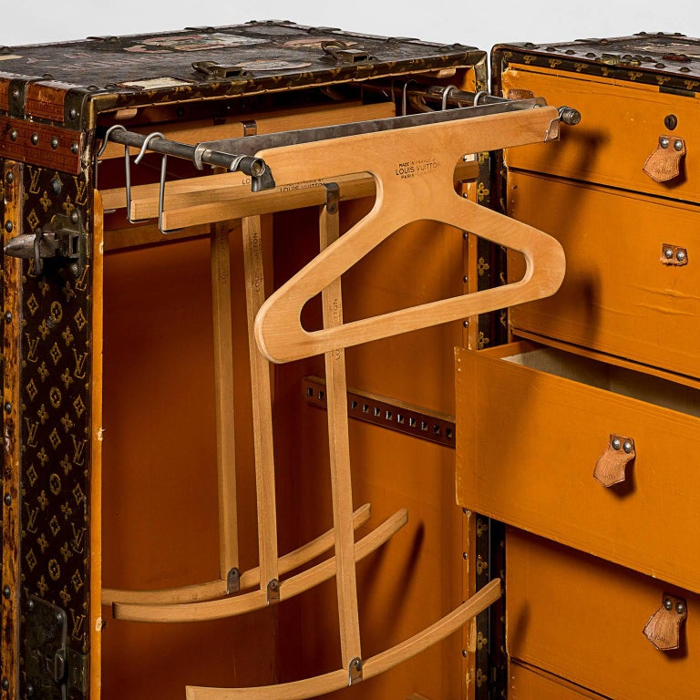 Georgian Early 20th Century Louis Vuitton Travel Wardrobe Trunk For Sale