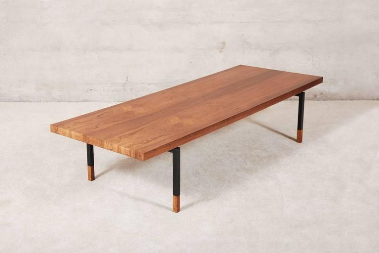 Danish Extra Long Rosewood Coffee Table By Johannes Aasbjerg For Illums Bolighus 1960s