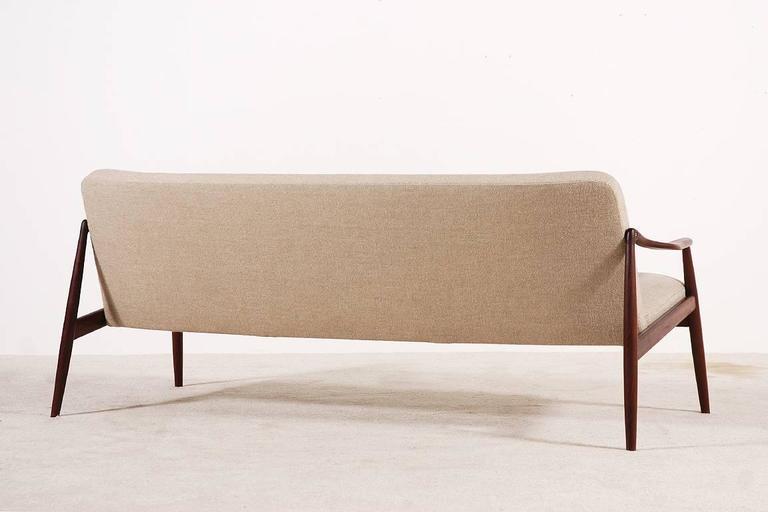 German Beautiful Hartmut Lohmeyer Three-Seat Teak Sofa for Wilkhahn, 1950s For Sale
