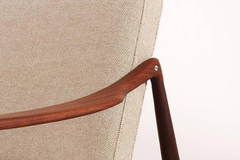 Beautiful Hartmut Lohmeyer Three-Seat Teak Sofa for Wilkhahn, 1950s For Sale 2