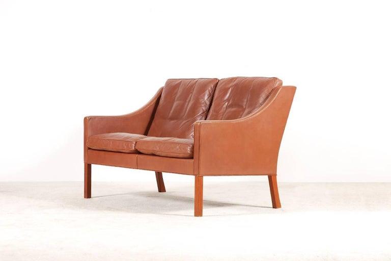 Scandinavian Modern Børge Mogensen, 2-Seat Sofa Model 2208, 1960s For Sale