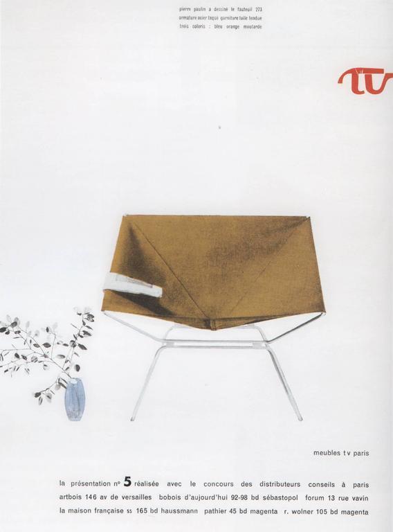 Rare Pierre Paulin Easy Chair Model AP-14 for AP Originals, 1954 10