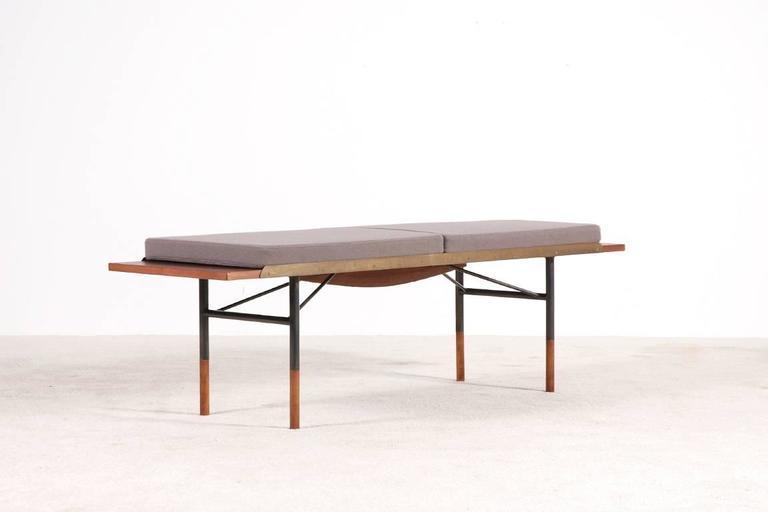 Scandinavian Modern Finn Juhl Teak Coffee Table Bench For Bovirke 1952