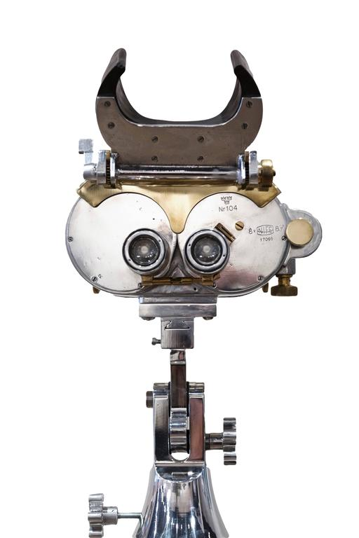 WWII Swedish Deck Mounted Binoculars In Excellent Condition For Sale In Aspen, CO