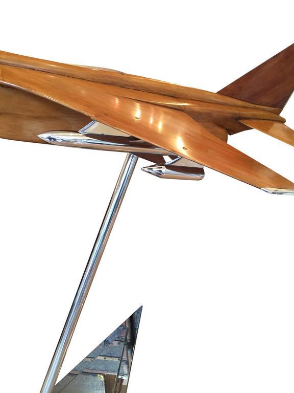 1960s Original Wind Tunnel Model of the Sepecat Jaguar Anglo-French Fighter  Jet