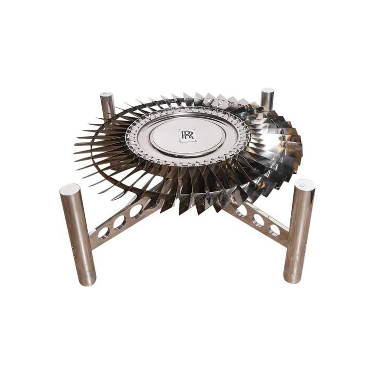 Large Rolls-Royce Titanium Turbine Table For Sale 5