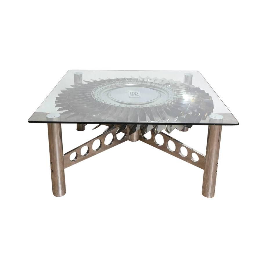 large rolls royce titanium turbine table for sale at 1stdibs. Black Bedroom Furniture Sets. Home Design Ideas
