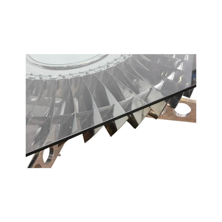Large Rolls-Royce Titanium Turbine Table For Sale 3