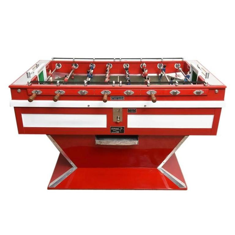 Midcentury French Coin-Operated Foosball Game Table