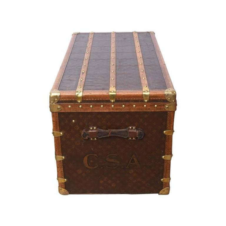Early 20th Century Louis Vuitton Steamer Trunk 8