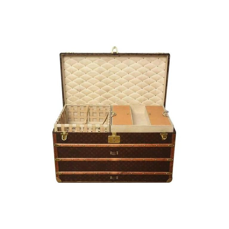 Early 20th Century Louis Vuitton Steamer Trunk 2