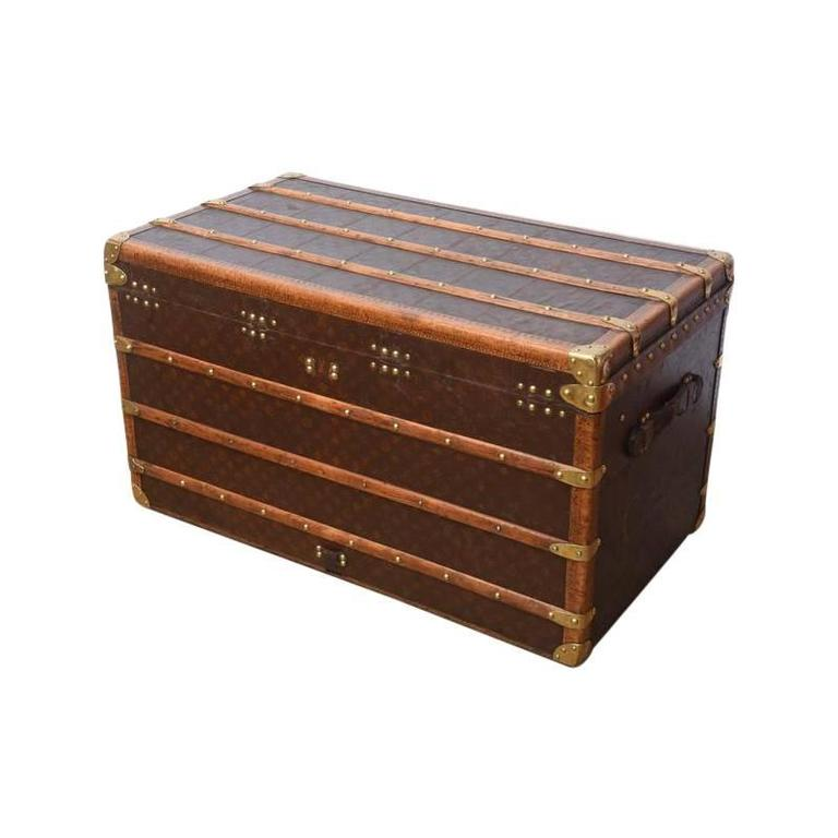 Early 20th Century Louis Vuitton Steamer Trunk 9