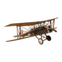 Large Vintage Hand-Built RAF SE5 Model Airplane