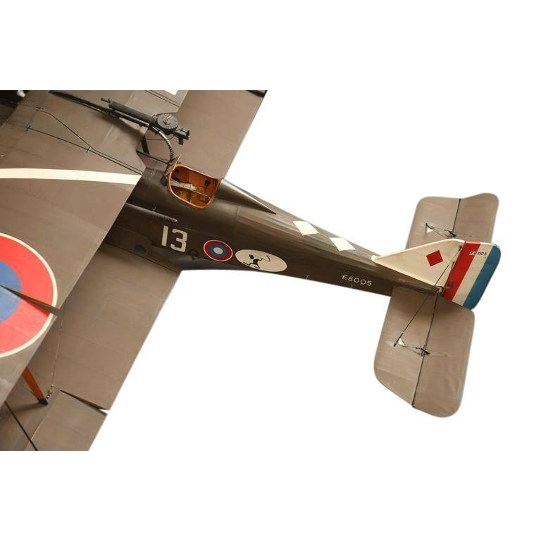 20th Century Large Vintage Hand-Built RAF SE5 Model Airplane For Sale