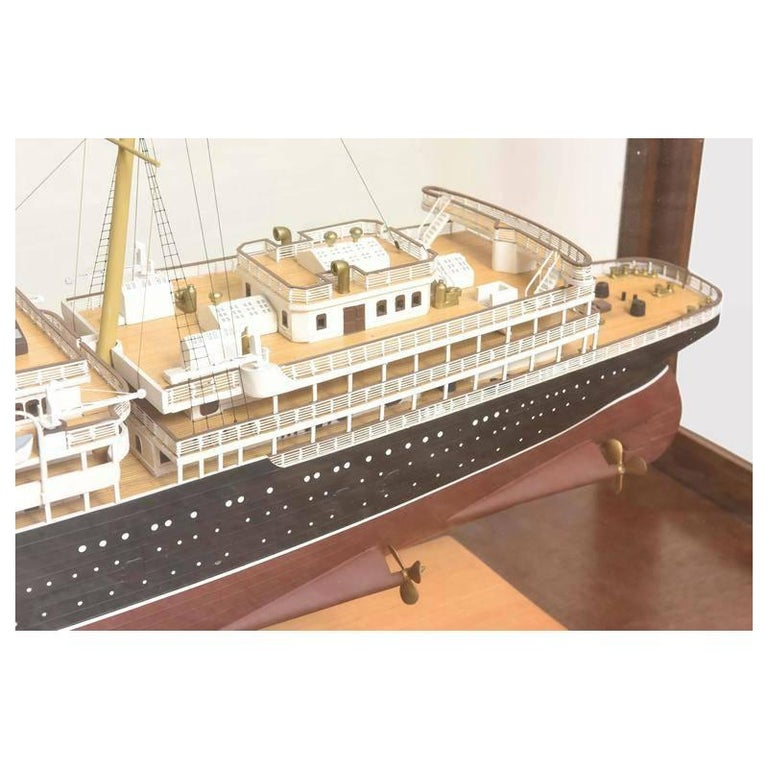 Large Hand Built Ship Model of the Rms Lusitania For Sale 2