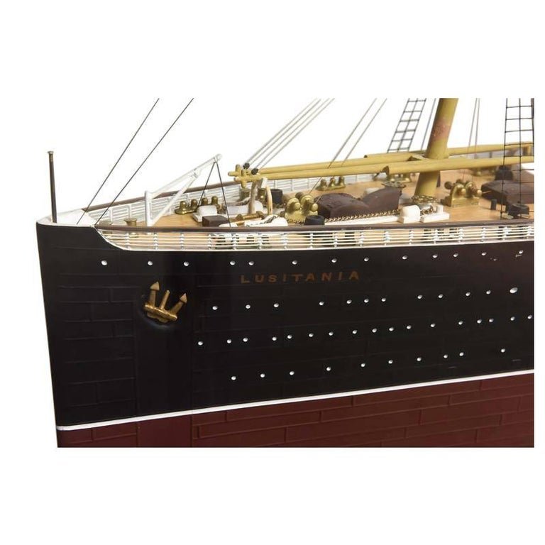 Large Hand Built Ship Model of the Rms Lusitania For Sale 3