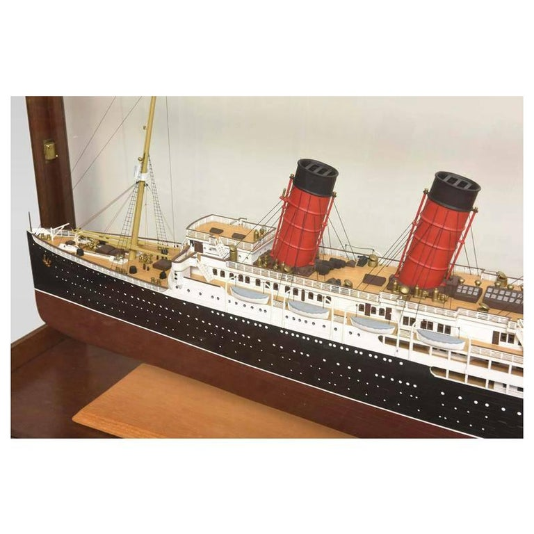 Large Hand Built Ship Model of the Rms Lusitania For Sale 4
