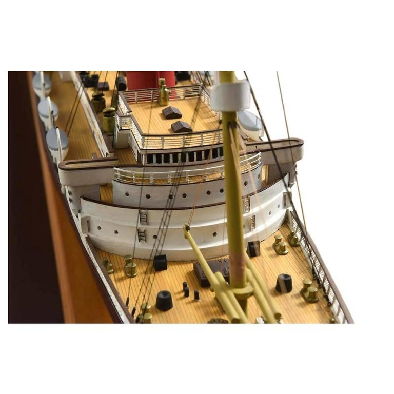 Large Hand Built Ship Model of the Rms Lusitania For Sale 5