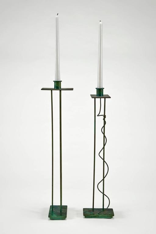Post-Modern Pair of Architectural Candlesticks 'Prototypes' by Steven Holl for Swid Powell For Sale