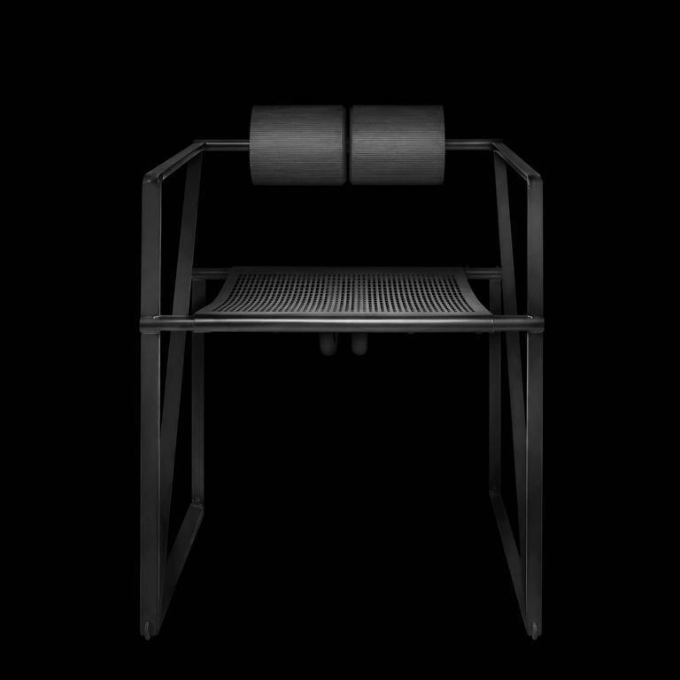 Steel Seconda Chair by Mario Botta for Alias