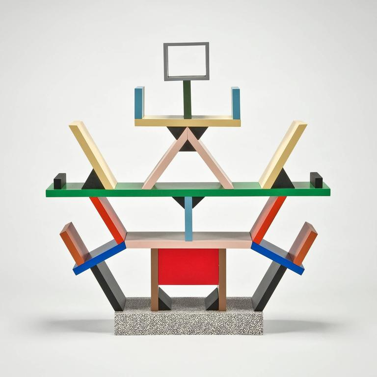 Total edition of 1000, this one numbered 317/1000, marked with edition number and E. Sottsass on bottom. In perfect condition in original box.  Miniature in 1:4 scale perfectly produced by Memphis/Milano. Designed by founder, Ettore Sottsass, this