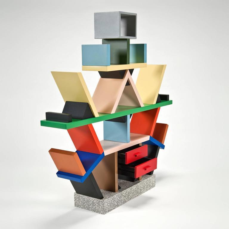 Carlton Bookcase 1 4 Scale Miniature By Ettore Sotts For Memphis 3