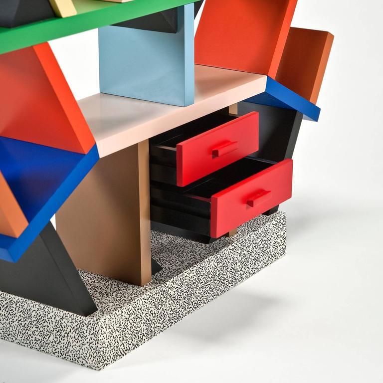 Italian Carlton Bookcase '1:4 Scale Miniature' by Ettore Sottsass for Memphis