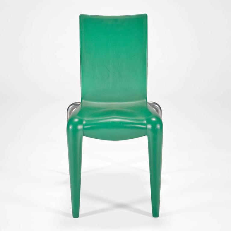 Post-Modern Louis 20 Side Chair 'Prototype' in Green by Philippe Starck for Vitra Edition For Sale
