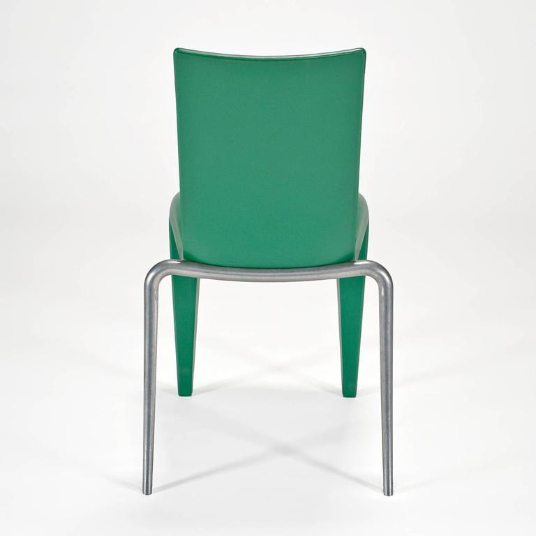 Polished Louis 20 Side Chair 'Prototype' in Green by Philippe Starck for Vitra Edition For Sale