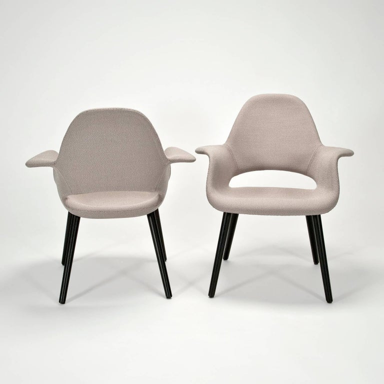 German Pair of Organic Armchairs by Charles Eames and Eero Saarinen for Vitra For Sale