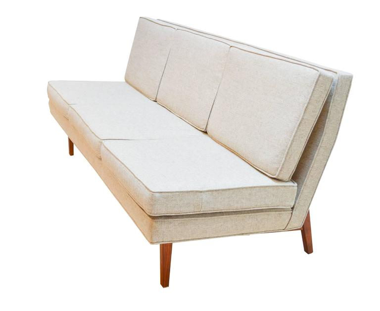 Midcentury Upholstered And Walnut Sofa By Jack Cartwright At Stdibs - Cartwright furniture