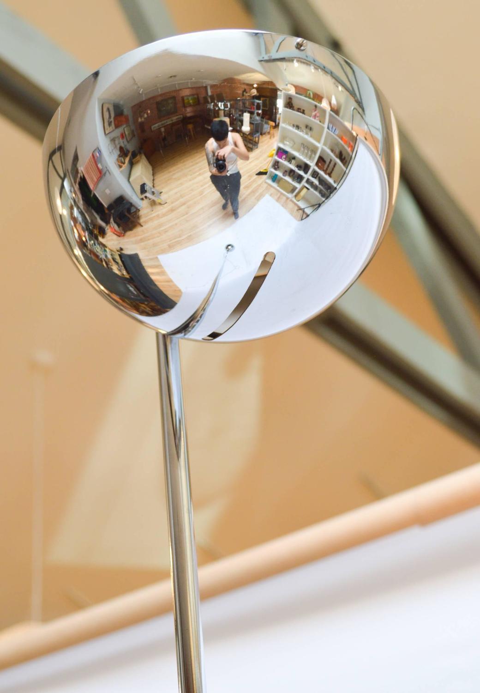 Mid Century Modern Chrome Floor Lamp By Robert Sonneman