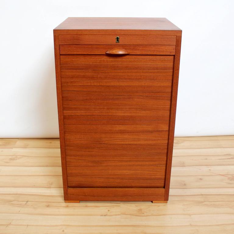 Teak Kitchen Cabinet Doors: 1960s Frej-Odense Danish Modern Teak Flat Filing Cabinet