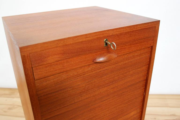 1960s Frej Odense Danish Modern Teak Flat Filing Cabinet
