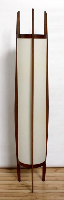 1960s Danish Modern Sculptural Teak Modeline Floor Lamp At