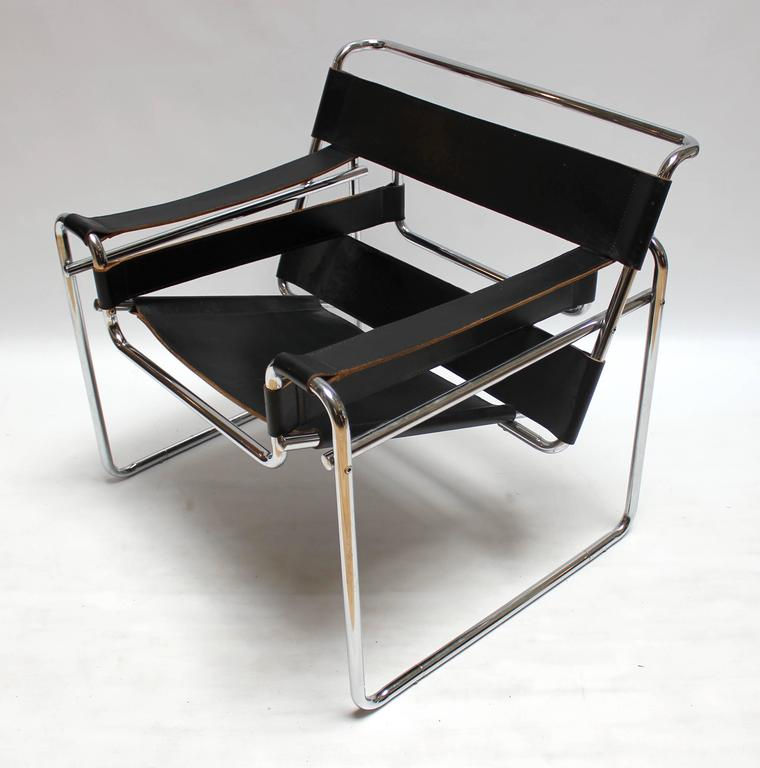 Vintage Chrome and Leather Wassily Chair by Marcel Breuer for Knoll 2