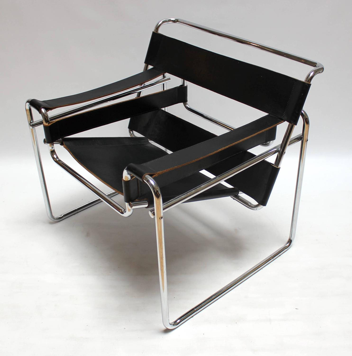 Vintage Chrome And Leather Wassily Chair By Marcel Breuer For Knoll At 1stdibs