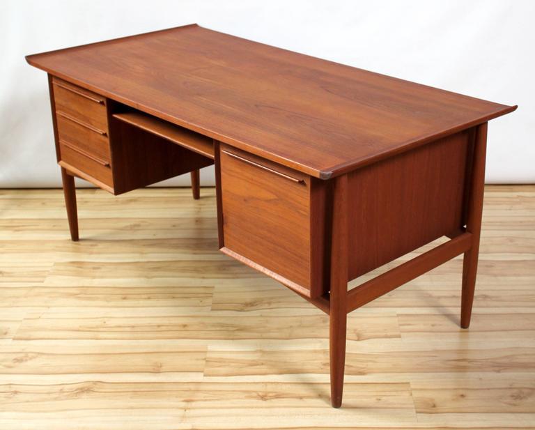 1960s danish modern teak executive desk by h p hansen at 1stdibs