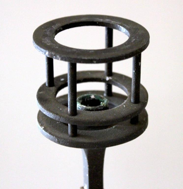 Scandinavian Modern Pair of 1960s Iron Candlesticks by Jens Quistgaard for Dansk For Sale