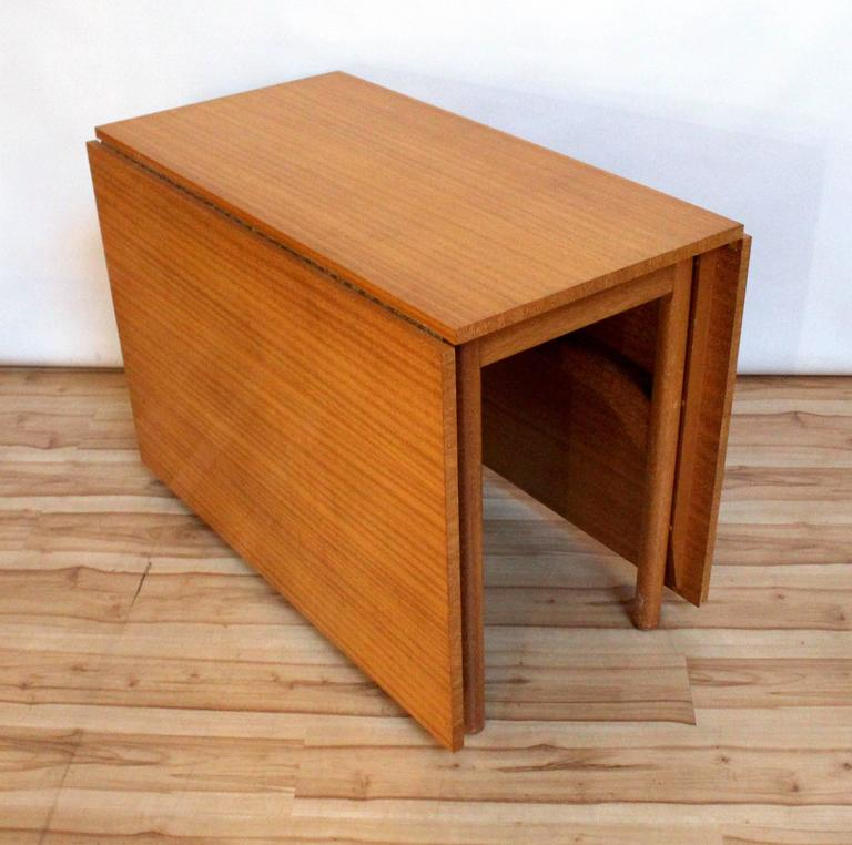 Modern Drop Leaf Dining Table Part - 29: 1960s Mid-Century Modern Brown Saltman Ribbon Mahogany Drop-Leaf Dining  Table 3