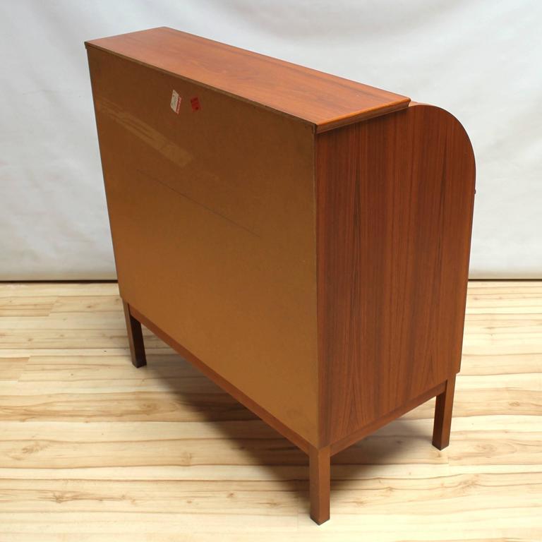 1960s Scandinavian Teak Roll Top Secretary Desk 5