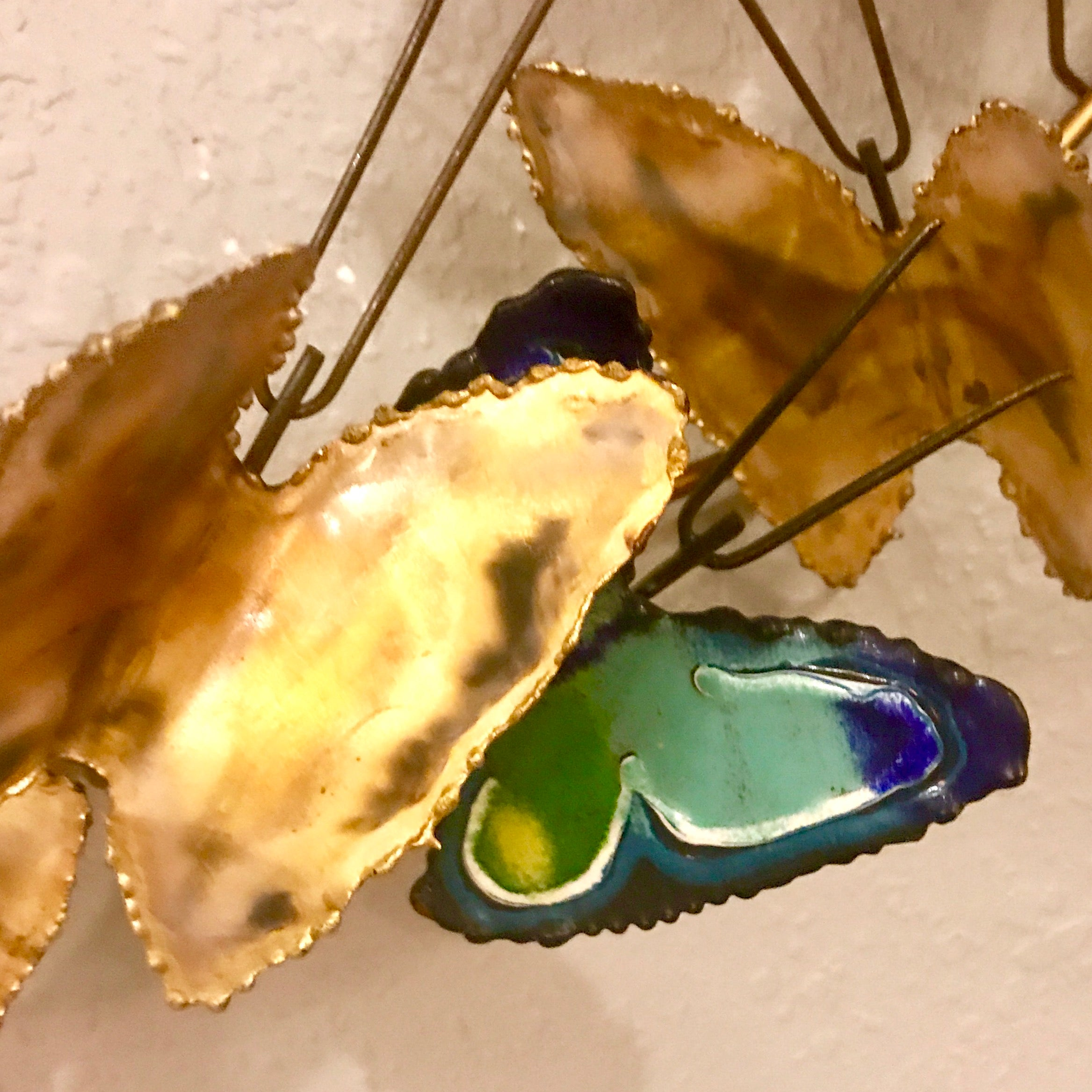 1967 Curtis Jere Butterfly Brass Wall Sculpture at 1stdibs