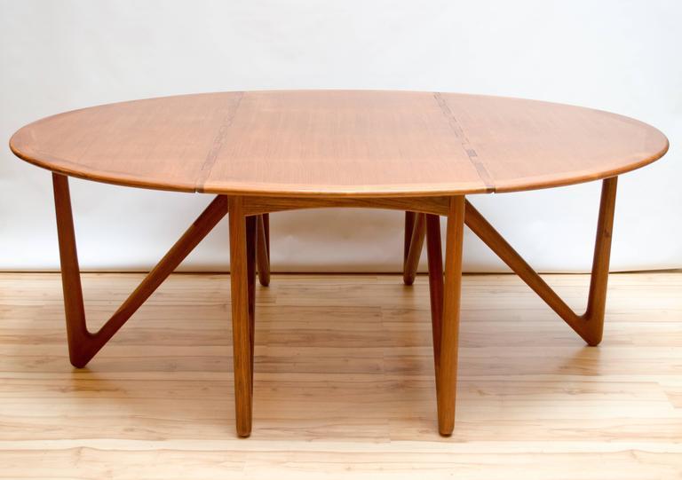 Modern Drop Leaf Dining Table Part - 31: Kurt Ostervig For Jason Mobler Danish Modern Drop-Leaf Dining Table 2